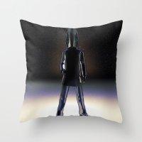 ironman Throw Pillows featuring IronMan by lessdanthree