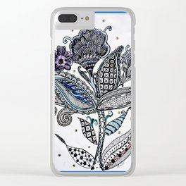 Trio flowers in the wind Clear iPhone Case