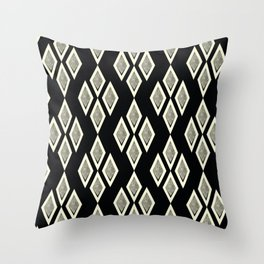 Black and cream ,classic Throw Pillow