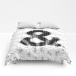Halftone Ampersand Sans Serif Comforters