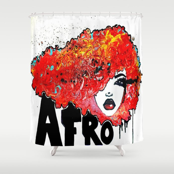 Afro Crush Shower Curtain