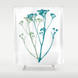 Don't let the tall weeds cast a shadow on beautiful flowers Shower Curtain