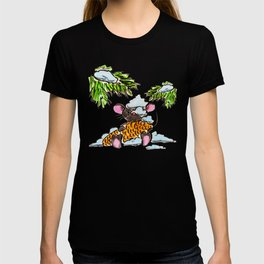 Christmas and New Year mouse with a cone T-shirt