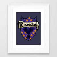 ravenclaw Framed Art Prints featuring Ravenclaw Crest by AriesNamarie