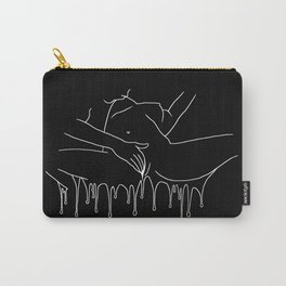 Colorful Climax line b&w - Erotic Art Illustration Nude Sex Sexual Love Lovers Relationship Couple Carry-All Pouch