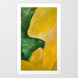 Yellow Landscape Art Print
