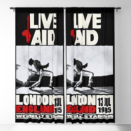 Live Aid 1985 Vintage Concert Festival Gig Advertising Music Poster Blackout Curtain