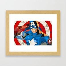 Geometric Superhero Framed Art Print