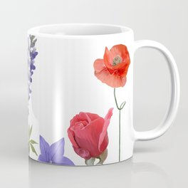 Flowers isolated on white background. Digital painting Coffee Mug