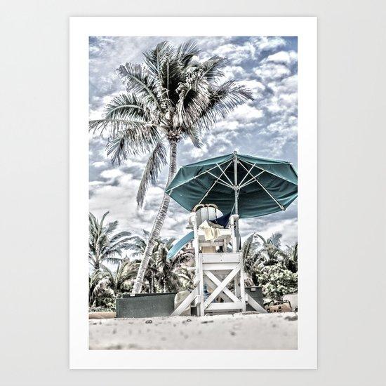 The Lifeguard Sanctuary Art Print