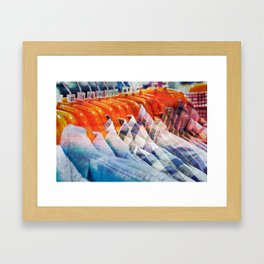 Casual shirts - texture photo with a retro filter applied Framed Art Print