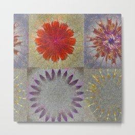 Uncaptivate Stripped Flower  ID:16165-034048-23510 Metal Print