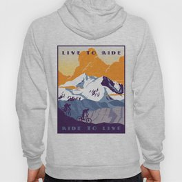 live to ride, ride to live retro cycling poster Hoody