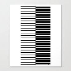 Zebra Plays Piano Canvas Print
