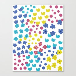 Flowers and Dots Galore Canvas Print