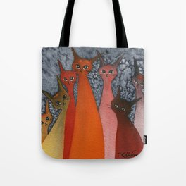 Casablanca Whimsical Cats Tote Bag