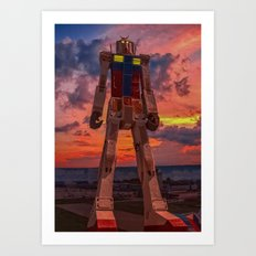 gundam for kids Art Print
