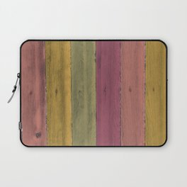Colorful Wood Grain Laptop Sleeve
