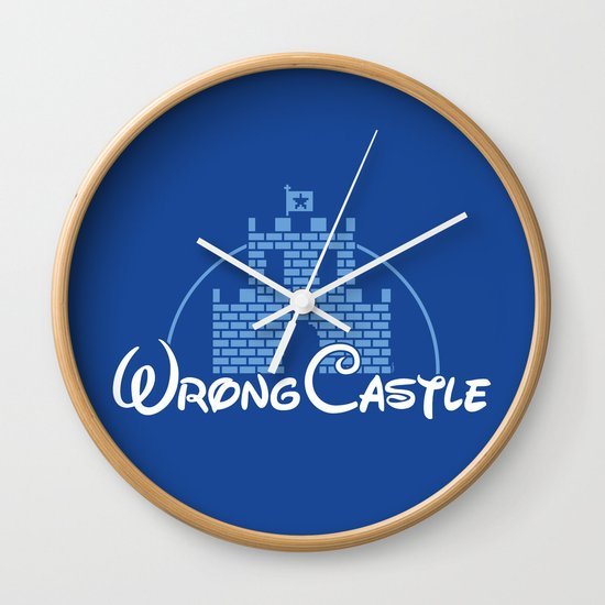 Wrong Castle Wall Clock