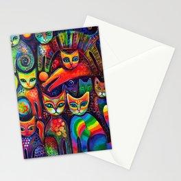 Rainbow cats Stationery Cards