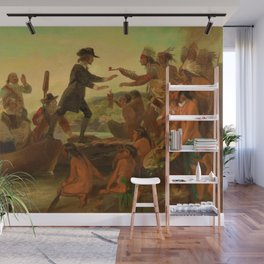 1857 Rhode Island Classical Masterpiece 'The Landing of Roger Williams' by Alonzo Chappel Wall Mural