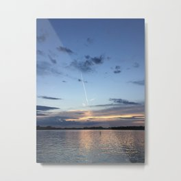 Lake Life Don't Care Metal Print