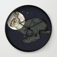 interstellar Wall Clocks featuring Interstellar by Shany Atzmon