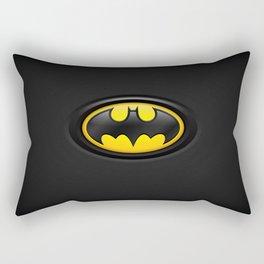 Bat Man Origins Logo Rectangular Pillow