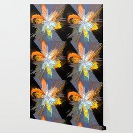 Gold Flower Abstract Wallpaper