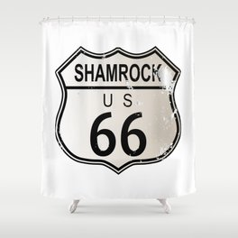 Shamrock Route 66 Shower Curtain