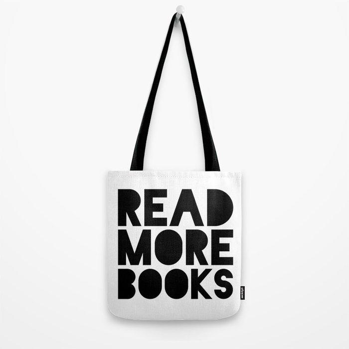 Read More Books - Black and white V2 Tote Bag