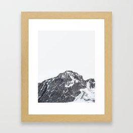 Snow Caps Framed Art Print