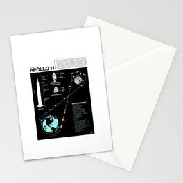 Apollo 11 Mission Diagram Stationery Cards