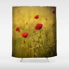 Poppy-field Poppies Flowers Flower Shower Curtain