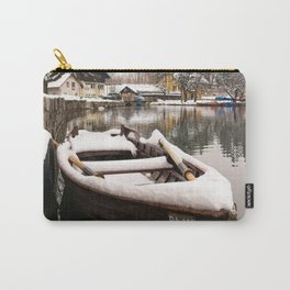 Boats At The Bled Lake Carry-All Pouch