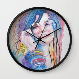 Janis in watercolor painting Wall Clock