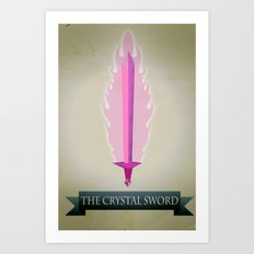 Crystal Sword Art Print
