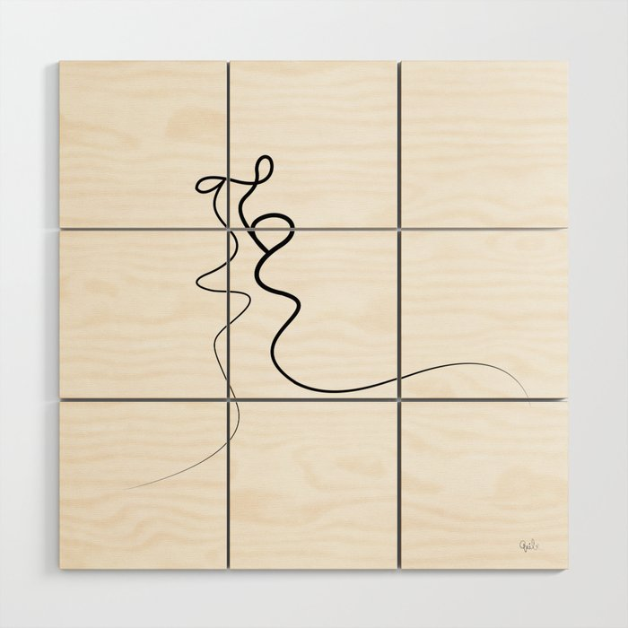 Kiss 2015 On White Wood Wall Art By Quibe