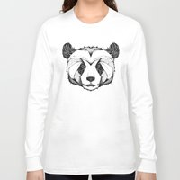 panda Long Sleeve T-shirts featuring Panda by Andreas Preis