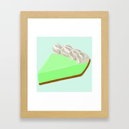 Piece of Key Lime Pie Framed Art Print