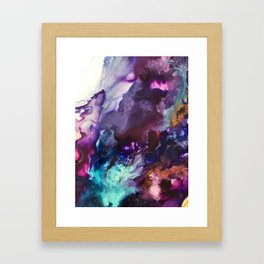 Expressive Flow 1 - Mixed Media Pain Framed Art Print