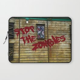 Stop the Zombies!!! Laptop Sleeve