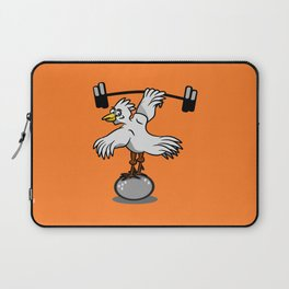 Chicken lifting weights Laptop Sleeve