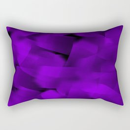 Translucent Stripes of Purple Ribbon Rectangular Pillow