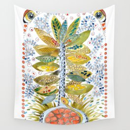 Turtle nest by the Tree Wall Tapestry