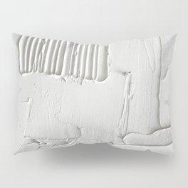 Relief [3]: an abstract, textured piece in white by Alyssa Hamilton Art  Pillow Sham