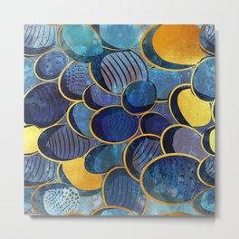Abstract deep blue Metal Print