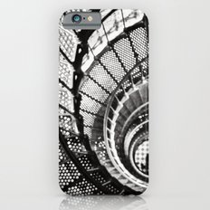 Spiral staircase black and white iPhone 6s Slim Case