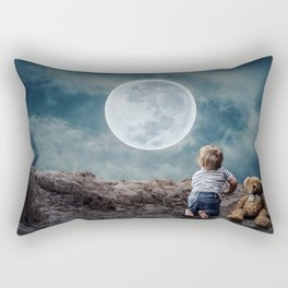 Reach For The Moon and Stars, Child Rectangular Pillow