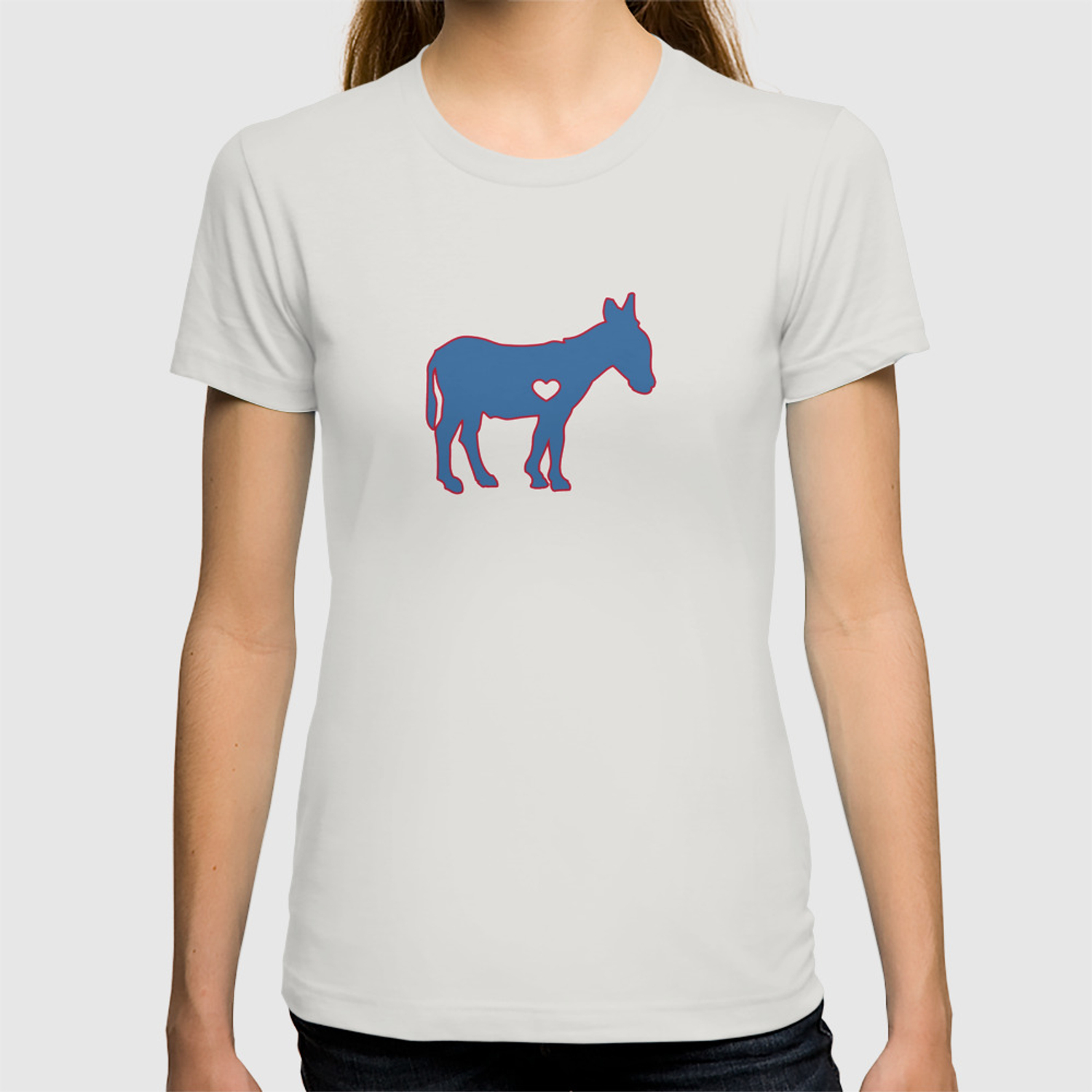 2dc03bb483 I Love Donkey Rider Jackass Mule Funny Democrat Jockey Blue Red Clean T- shirt by knuxxshop | Society6